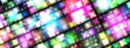 Neon Squares Facebook Covers